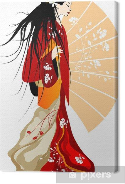 Canvas Geisha - Vrouwen
