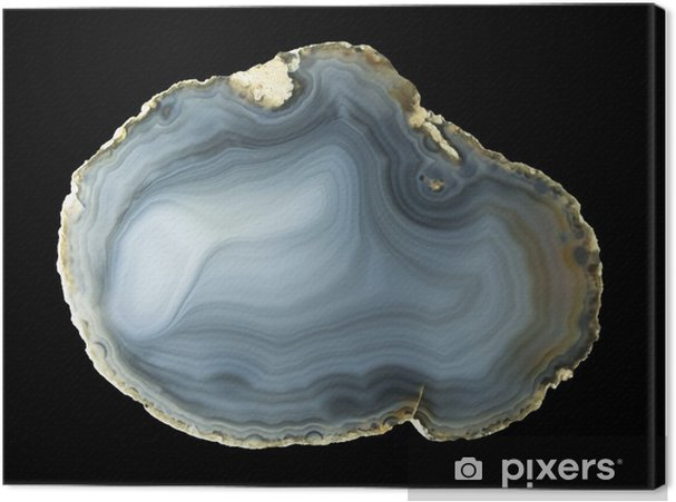 Canvas Gepolijste natuurlijke agaat geode - Mode