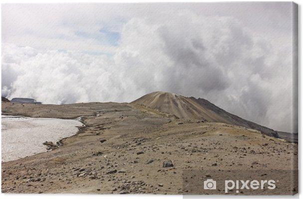 Canvas Glacier vulkaan Nevado del Ruiz, Los Nevados Parque Nacional Nat - Bergen