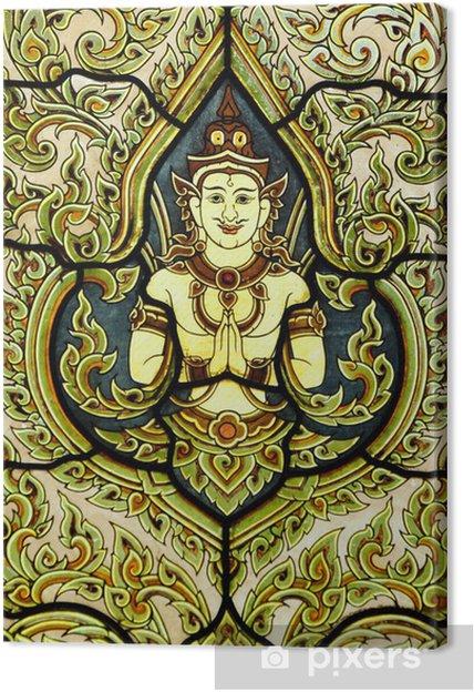 Glas In Lood Engels.Canvas Glas In Lood Raam Van De Engel Wat Benjamobopith Bangkok