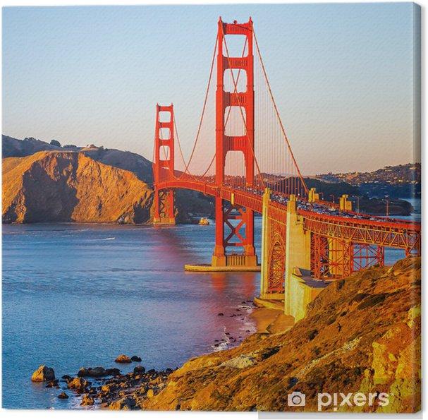 Canvas Golden gate brug - Thema's