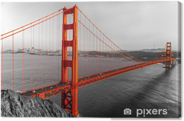 Canvas Golden Gate, San Francisco, Californië, USA. - Stijlen