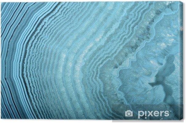 Canvas Golven in lichtblauwe agaat structuur - Ontspanning