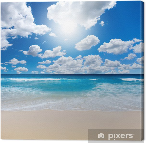 Canvas Gorgeous Beach Landschap - Zee en oceaan