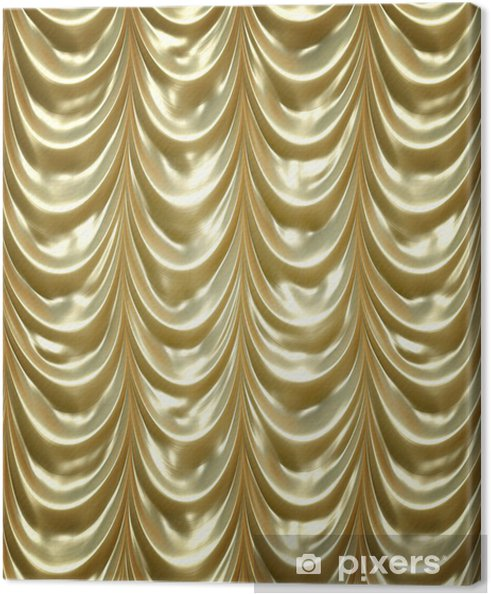 canvas gouden gordijnen