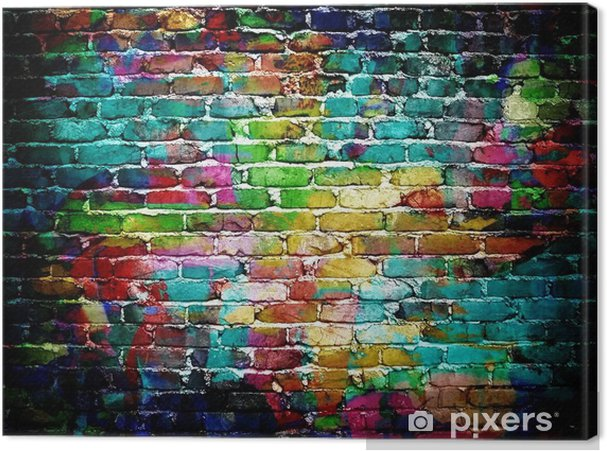 Canvas Graffiti muur -