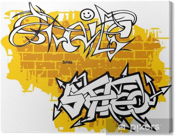 Canvas Graffiti -Smiley end Stereo. - Kunst en Creatie
