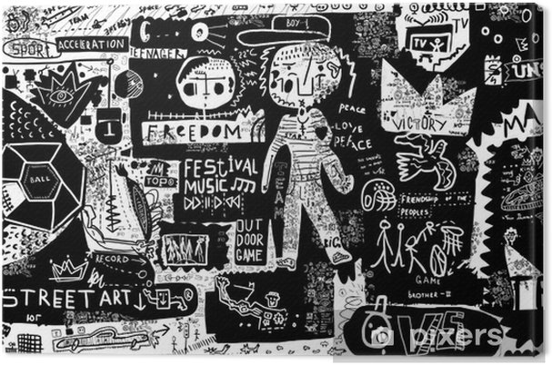 Canvas Graffiti - Mensen