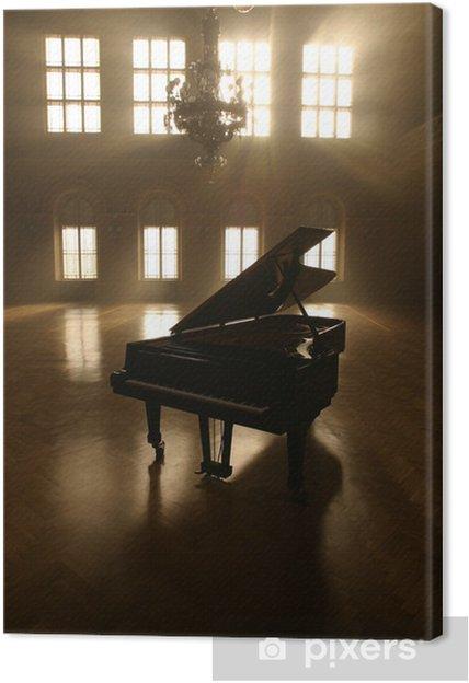 Canvas Grand Piano in Light - piano