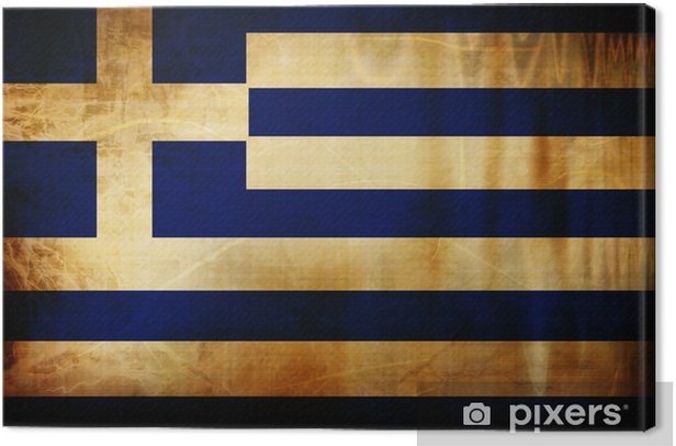 Canvas Griekse vlag -