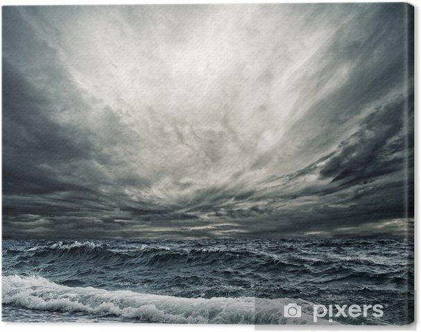 Canvas Grote oceaan golven breken de kust - Thema's