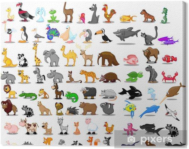 Canvas Grote set van dieren - Zoogdieren