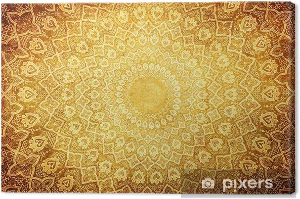 Canvas Grunge achtergrond met oosterse ornamenten. - Stijlen