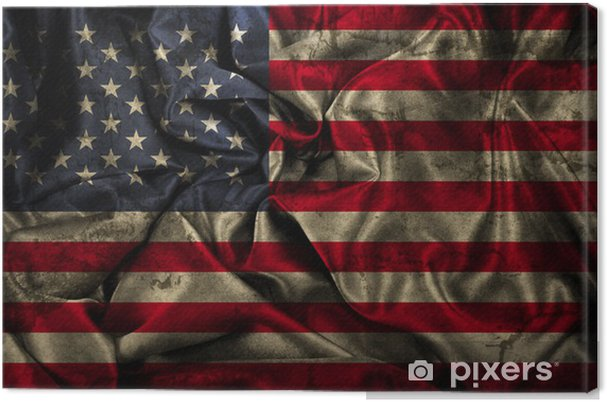 Plaid Amerikaanse Vlag.Canvas Grunge Amerikaanse Vlag Achtergrond