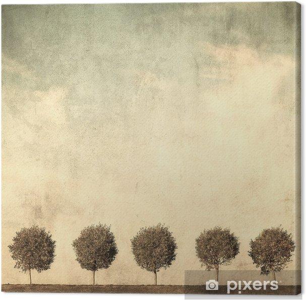 Canvas Grunge beeld van bomen - Stijlen