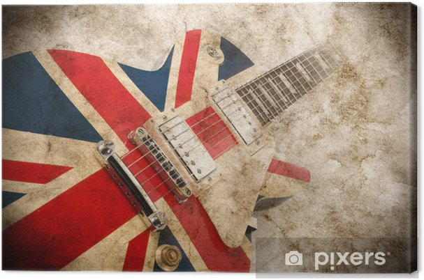 Canvas Grunge Britse pop gitaar - Rock