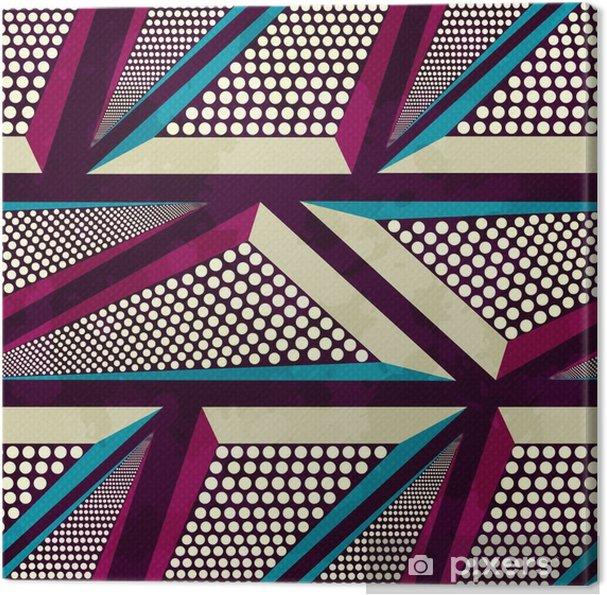 Canvas Grunge gekleurde graffiti naadloze patroon - Grafische Bronnen