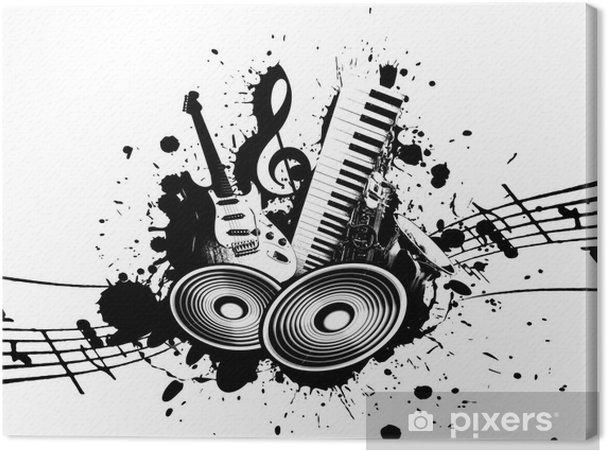 Canvas Grunge Music - jazz