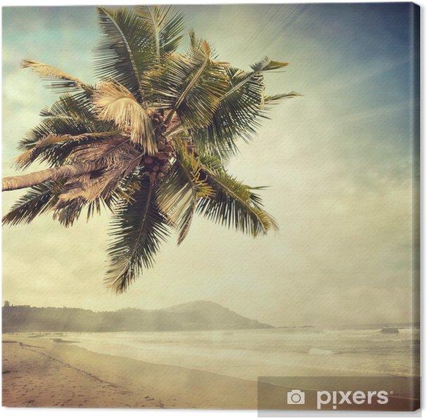 Canvas Grunge palm-8 - Thema's