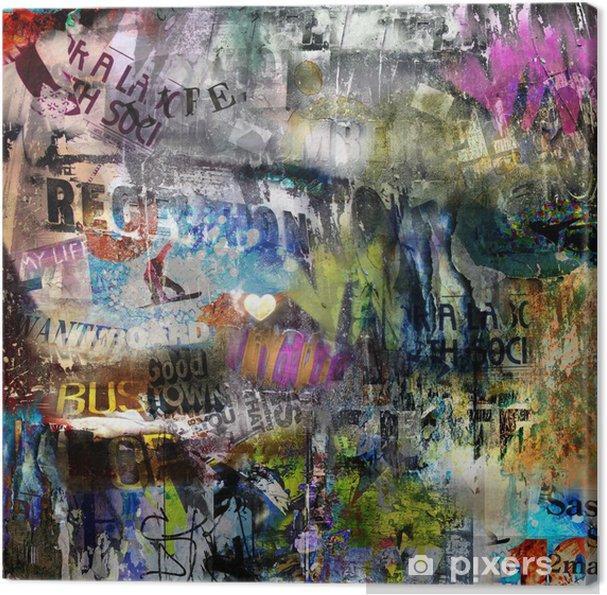 Canvas Grungy stijl gescheurde poster achtergrond -