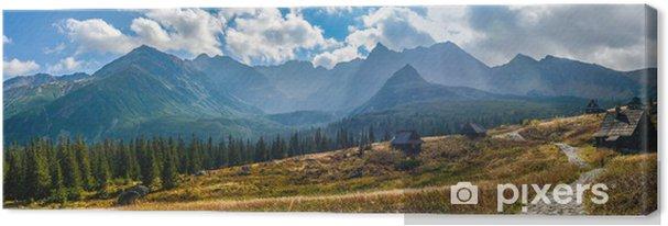 Canvas Hala Gasienicowa in Tatra-gebergte - panorama - Thema's