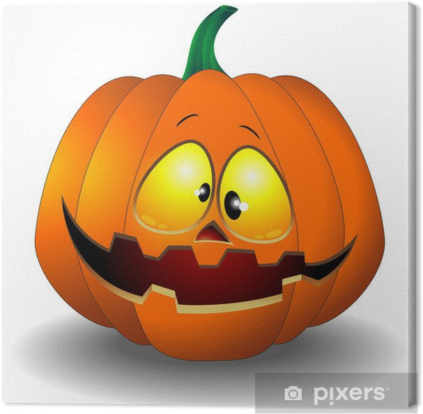 Pompoen Halloween.Canvas Halloween Pompoen Cartoon Zucca Buffa