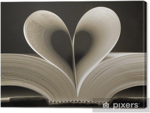 Canvas Hartvormige boek - iStaging