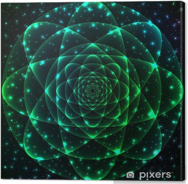 Canvas Heilige Geometrie symbool. Mandala mysterie element - Wetenschap