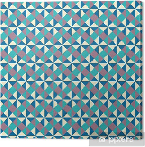 Canvas Helder geometrisch patroon - Achtergrond