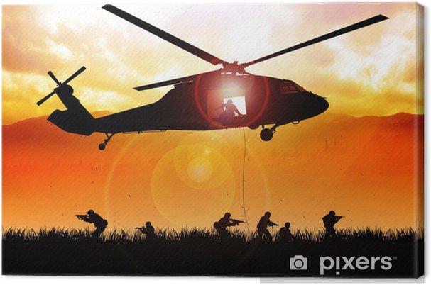 Canvas Helikopter daalt de troepen - Thema's