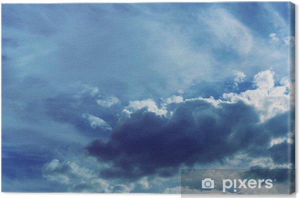 Canvas Hemel achtergrond met wolken - Landschappen