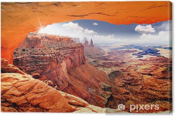 Canvas Hemelse mening van wereld - Woestijn