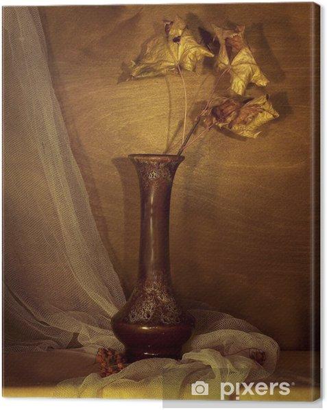 Canvas Herfst stilleven - Bloemen