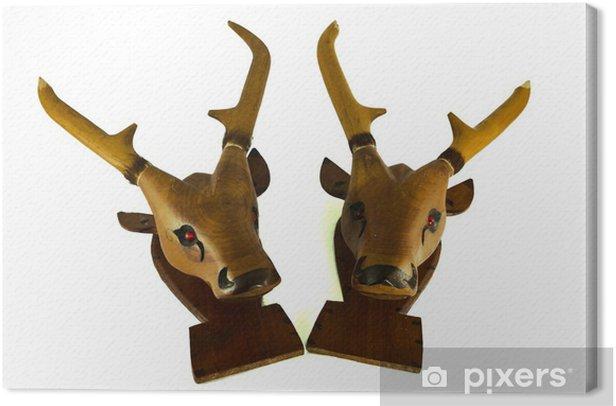 Canvas Herten geïsoleerd hoofd - Zoogdieren