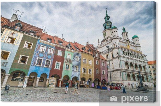 Canvas Het centrale plein van Poznan - Thema's
