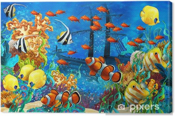 Canvas Het koraalrif - illustratie voor de kinderen - Koraalrif