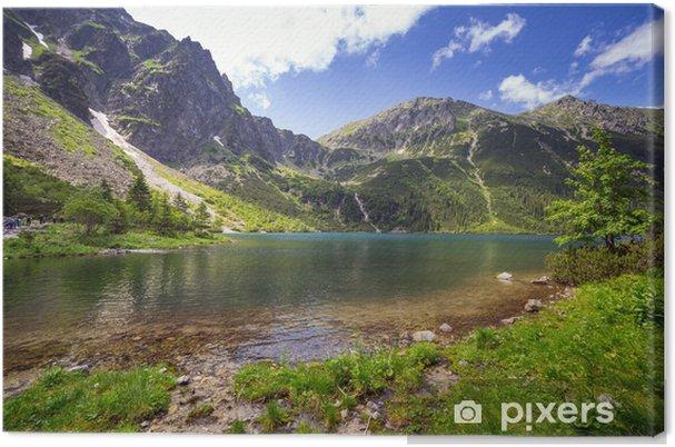 Canvas Het mooie landschap van de Tatra bergen en het meer in Polen - Meren