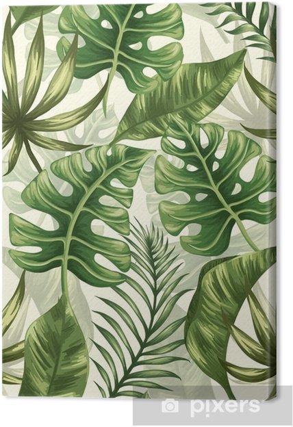 Canvas Het patroon van bladeren - Bloemen en Planten