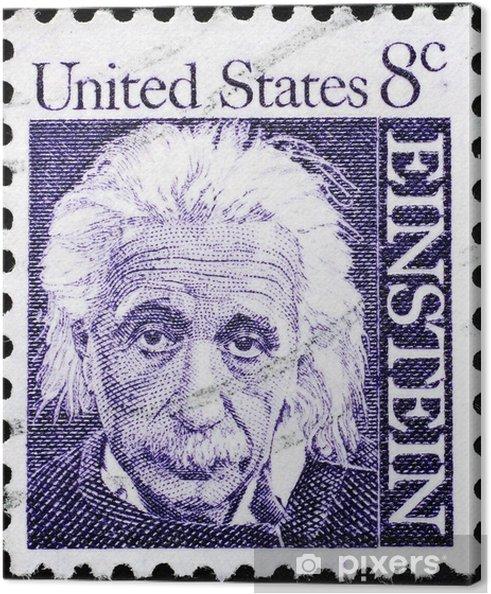 Canvas Het portret van Albert Einstein op Amerikaanse postzegel - Gezondheid en Geneeskunde