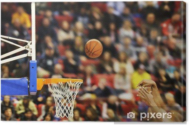 Canvas Het scoren van de winnende punten bij een basketbalwedstrijd - Basketbal