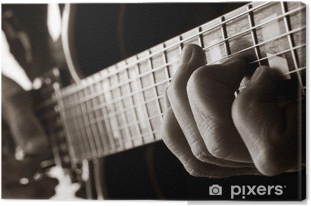 Canvas Het spelen van jazz gitaar - jazz