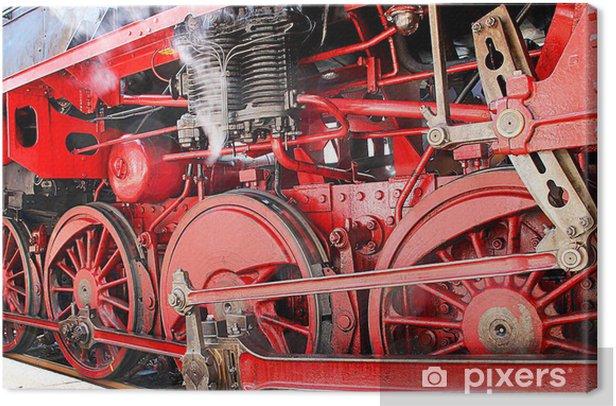 Canvas Historische Dampflok Detail - Thema's