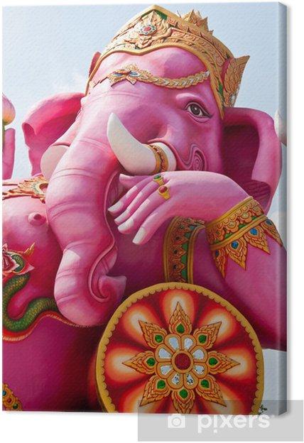 Canvas Hoofd geschoten van Ganesha beeld - Religie