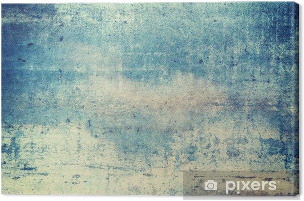 Canvas Horizontaal georiënteerd blauw gekleurde grunge achtergrond - Grafische Bronnen