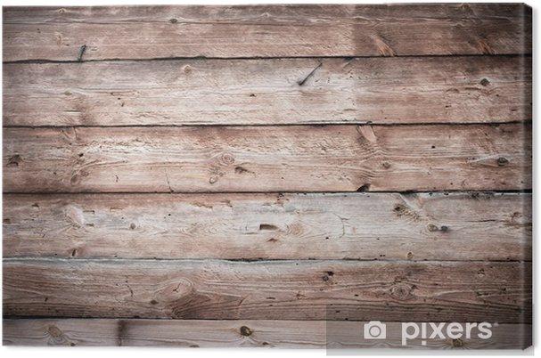 Houten Planken Voor Muur.Canvas Houten Muur Textuur Met Horizontale Planken