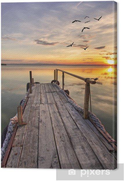 Canvas Houten pier -