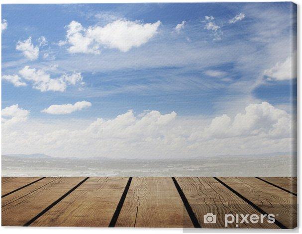 Canvas Houten vloer - Hemel