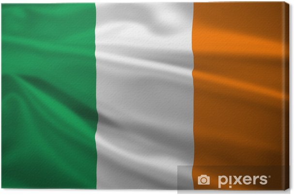 canvas ierland vlag waait in de wind • pixers® - we leven om te