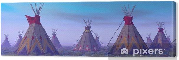 Canvas Indian Camp at Dawn - Levensstijl