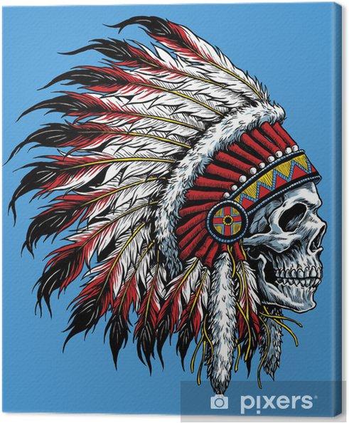 Canvas Indian schedel vector illustratie - Stijlen